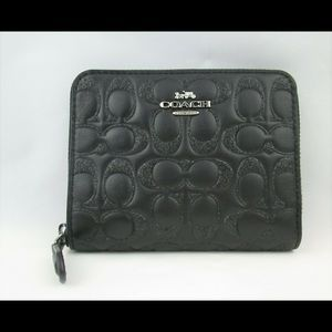 Coach wallet Glitter Leather Bifold Black F87757